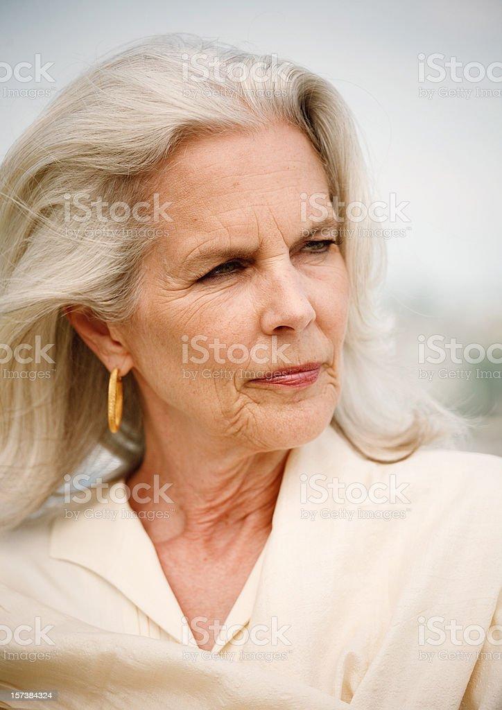 attractive senior portrait stock photo