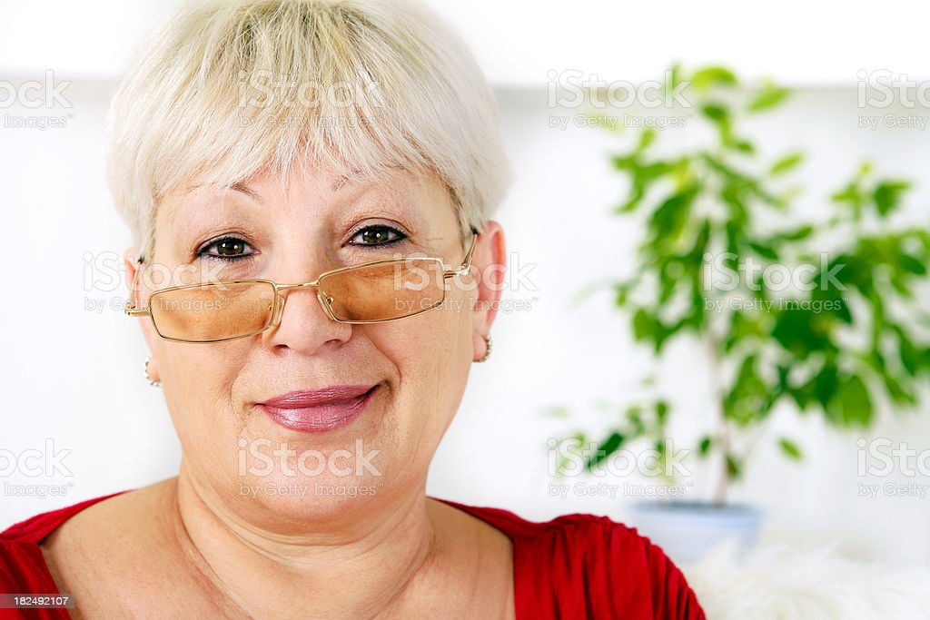 Attractive senior woman royalty-free stock photo