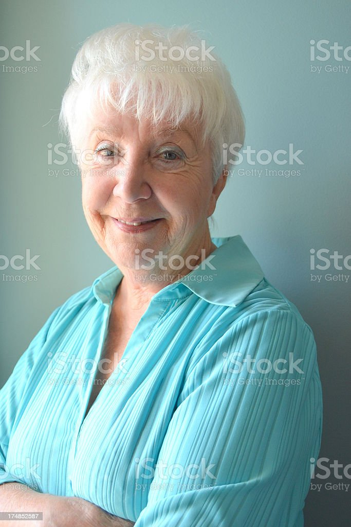 Attractive Senior Woman, smiling royalty-free stock photo