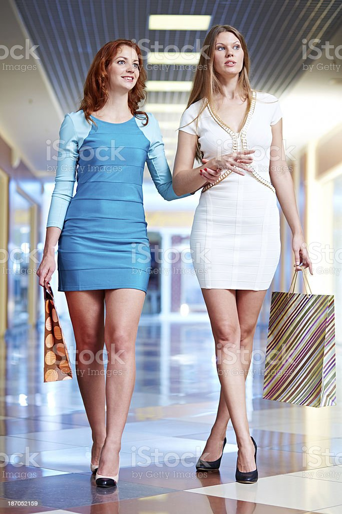 Attractive shoppers royalty-free stock photo