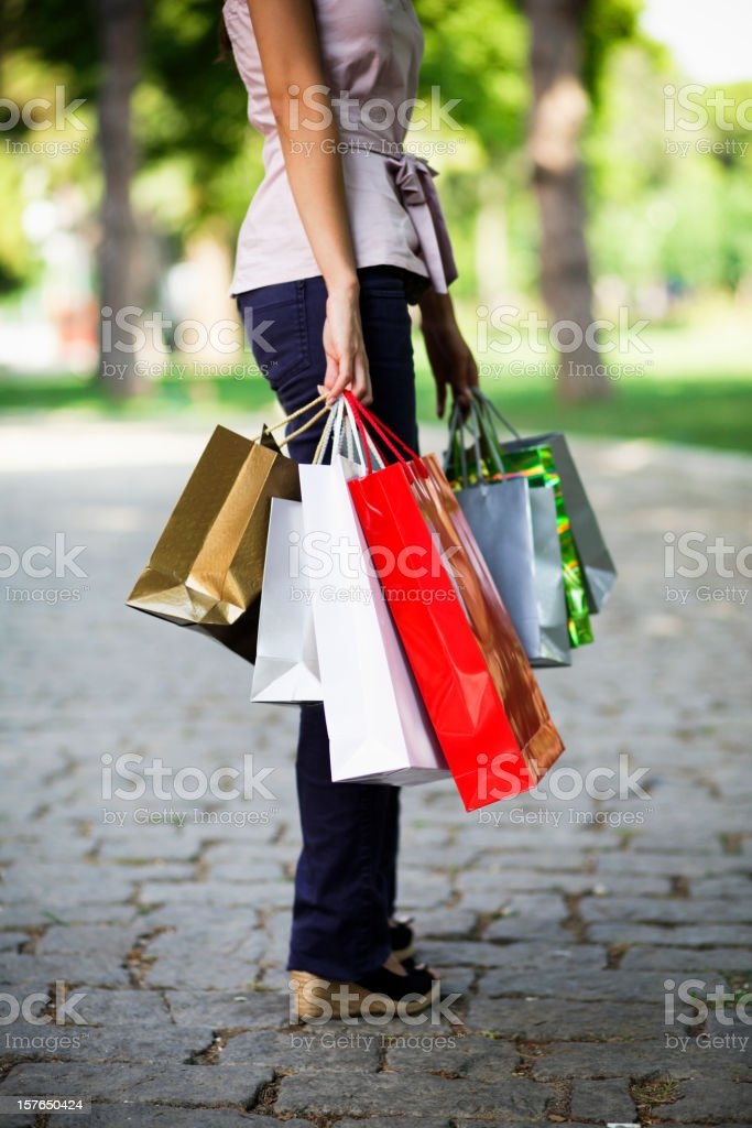 Attractive Shopping royalty-free stock photo