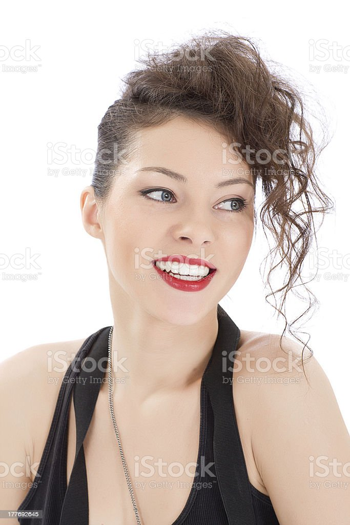 attractive smiling woman portrait royalty-free stock photo