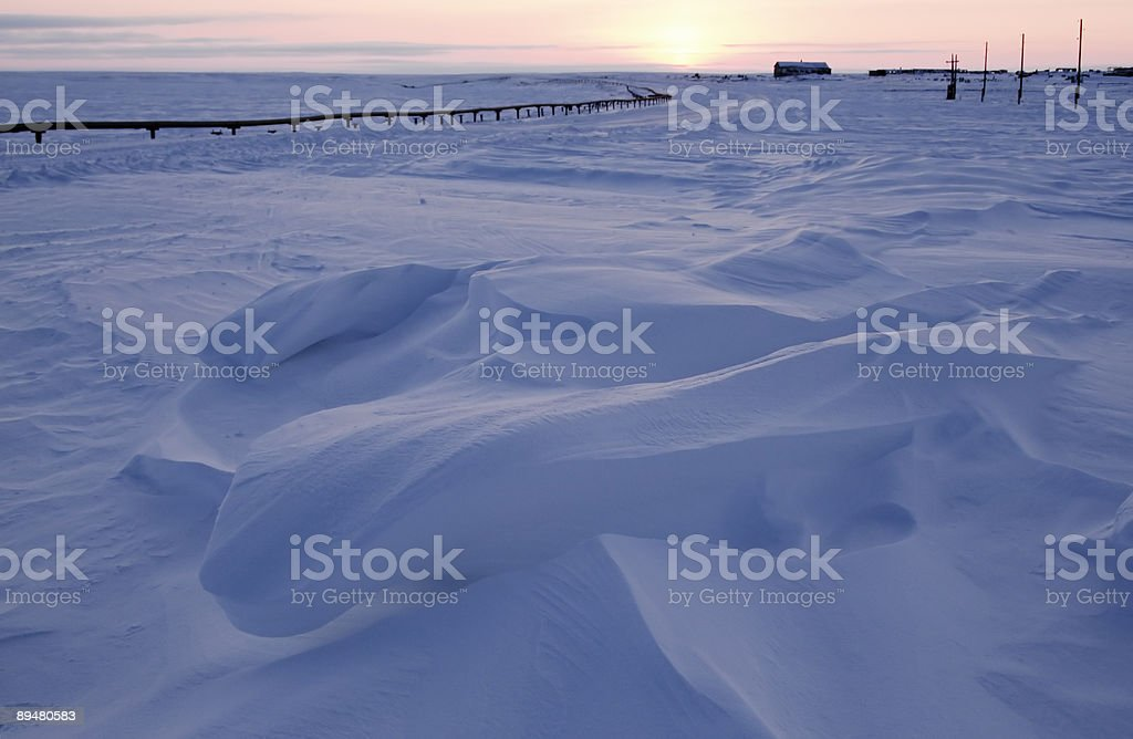 Attractive snowdrift. royalty-free stock photo