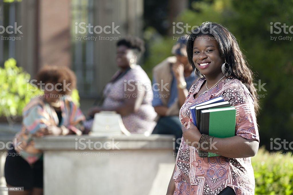 Attractive Student on Campus royalty-free stock photo