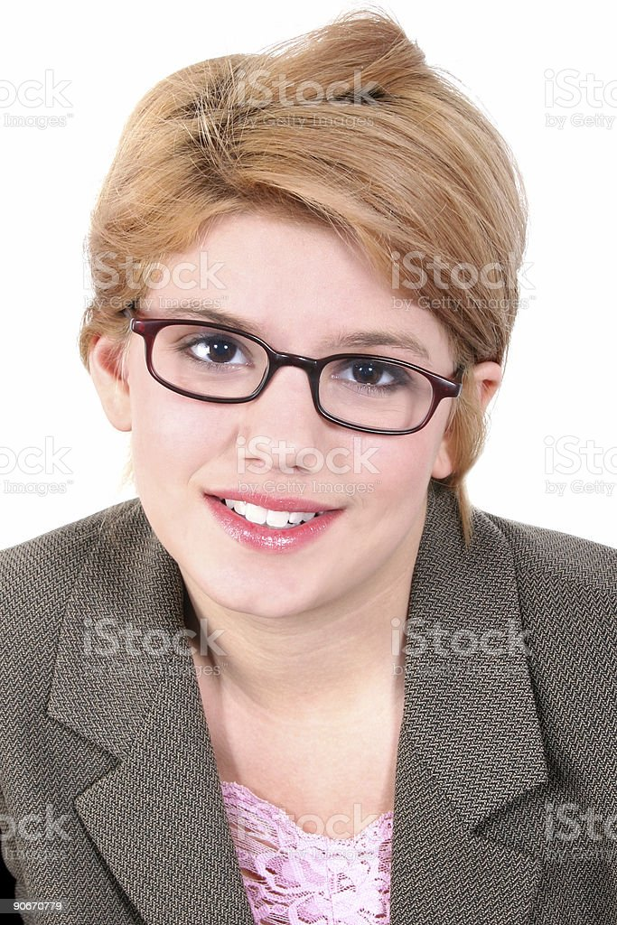 Attractive Teen Girl In Eyeglasses royalty-free stock photo