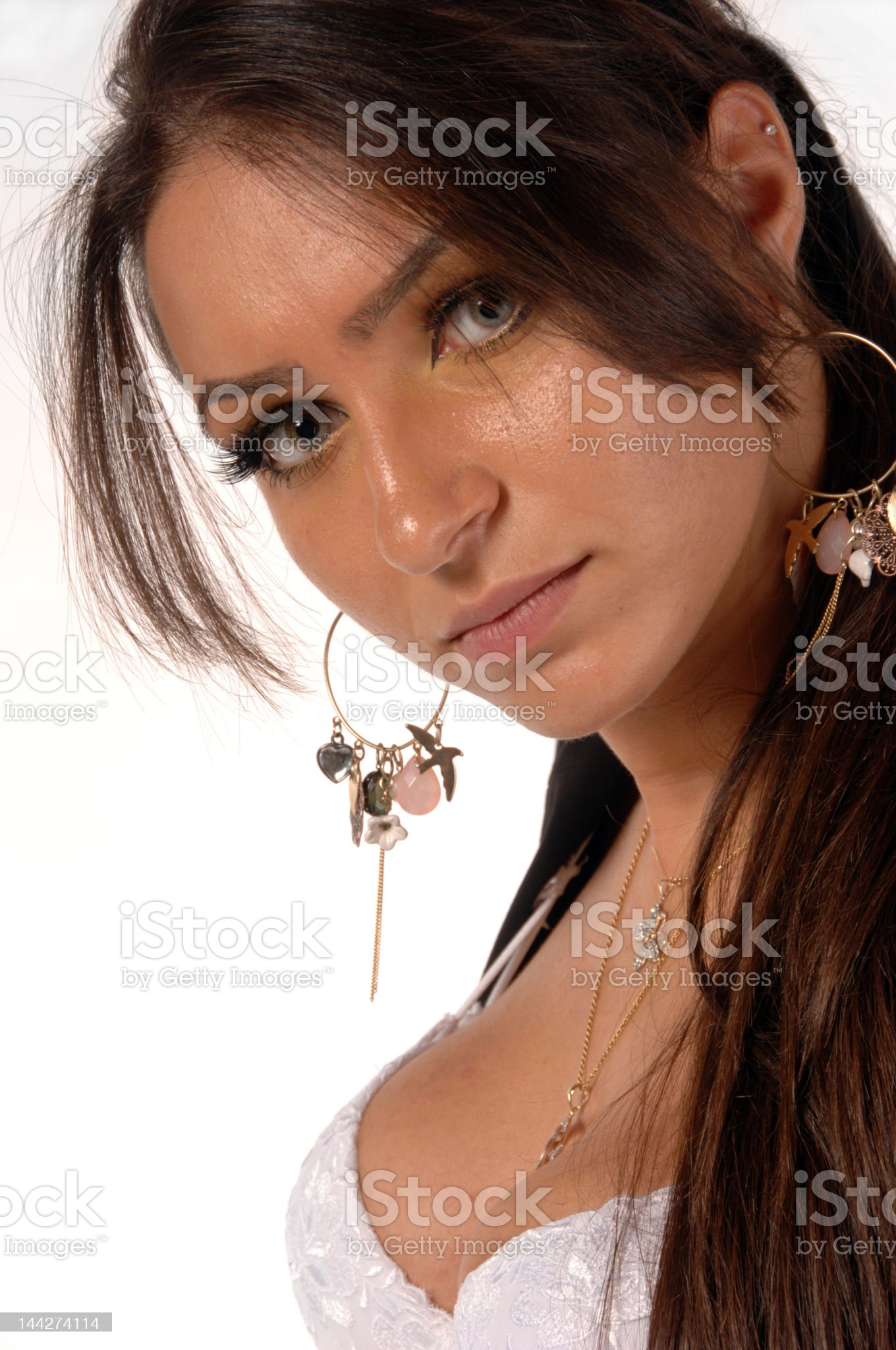 Attractive Turkish female royalty-free stock photo