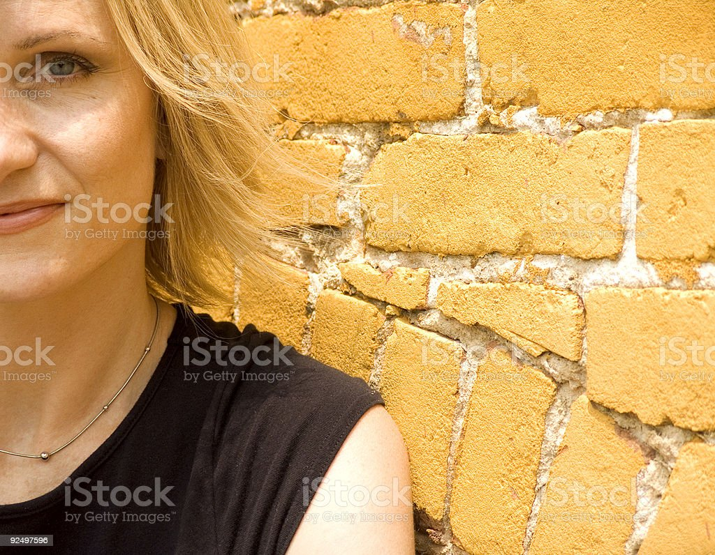 attractive woman close up royalty-free stock photo
