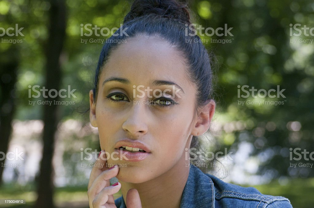 Attractive Woman - Eyes and Face royalty-free stock photo
