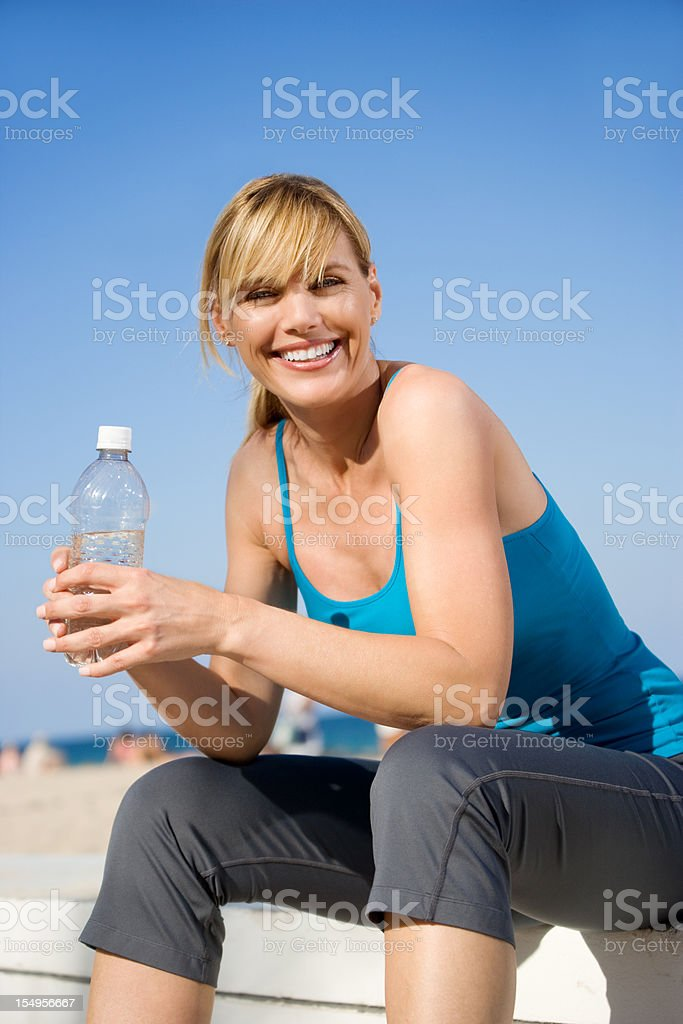 Attractive woman fitness royalty-free stock photo