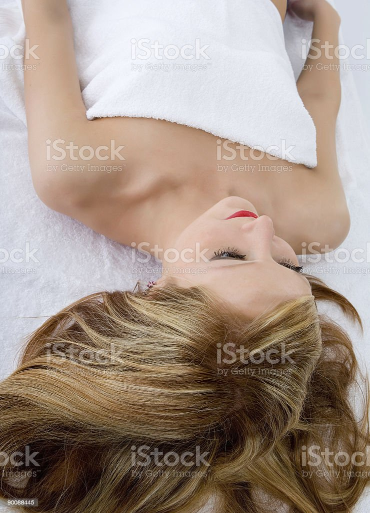 Attractive woman getting spa treatmen royalty-free stock photo