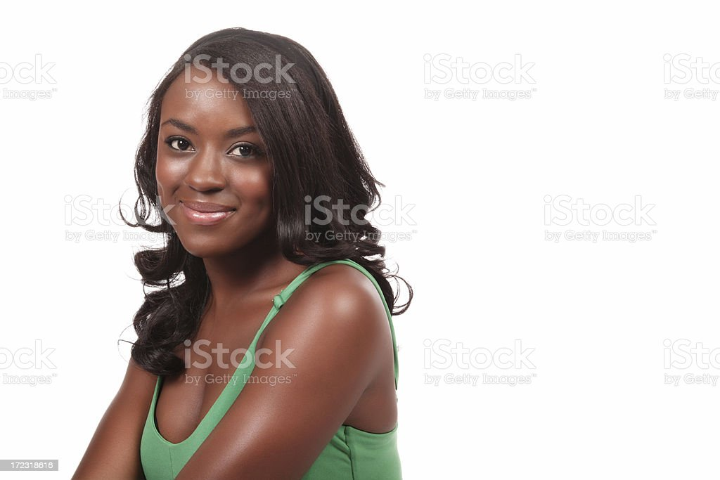 Attractive Woman Headshot stock photo
