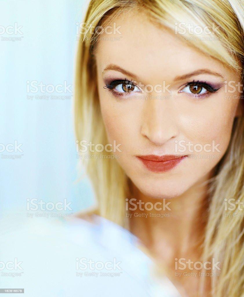 Attractive Woman Holding Hand Mirror stock photo 182816578 iStock