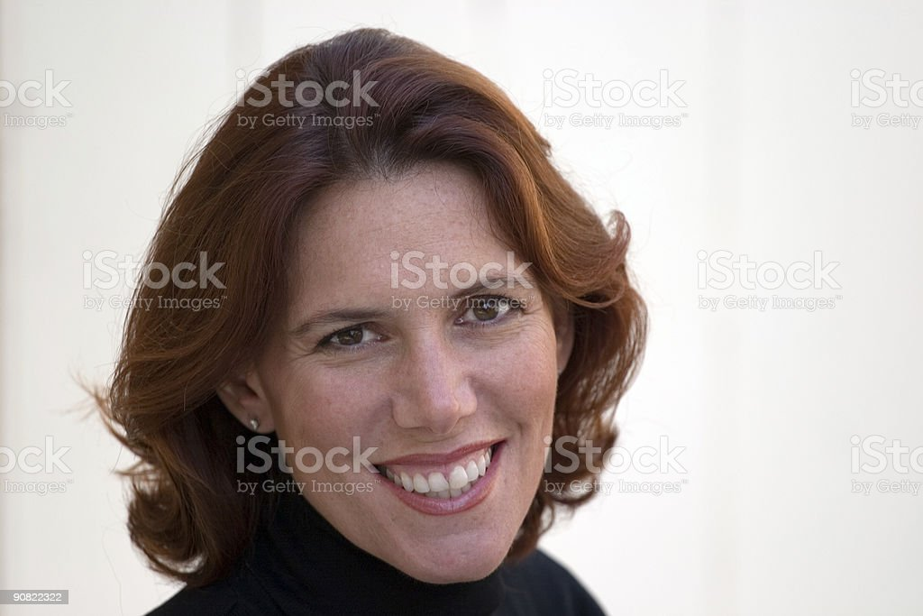 Attractive Woman in her 40s stock photo