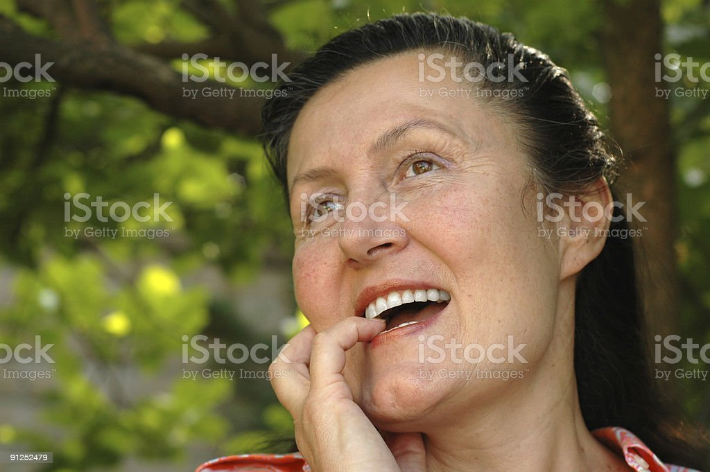 Attractive woman in her fifties royalty-free stock photo