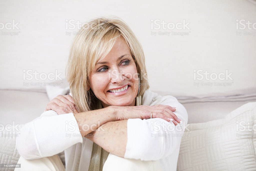 Attractive Woman in her late 50's royalty-free stock photo
