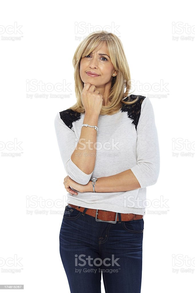Attractive woman looking at camera royalty-free stock photo