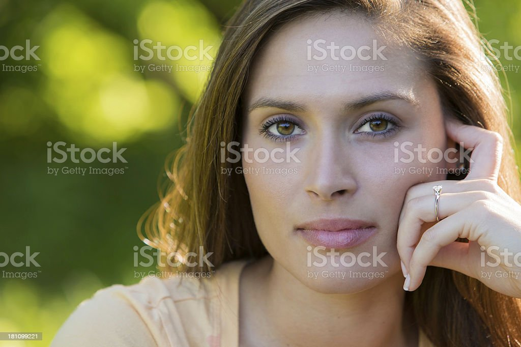 Attractive Woman Looking at Camera royalty-free stock photo