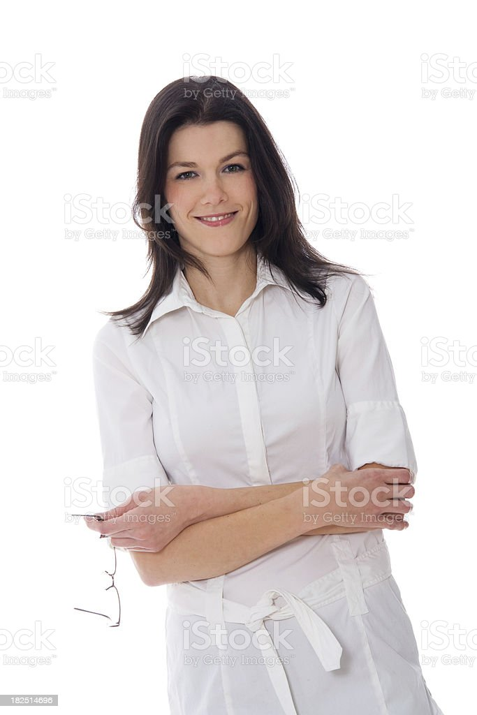 Attractive Woman Looking at the Camera royalty-free stock photo