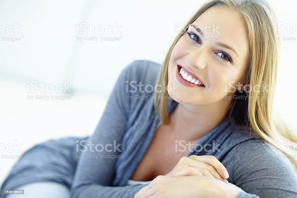 Attractive woman looking at you royalty-free stock photo