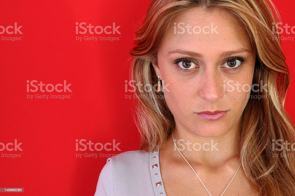 Attractive woman looking royalty-free stock photo