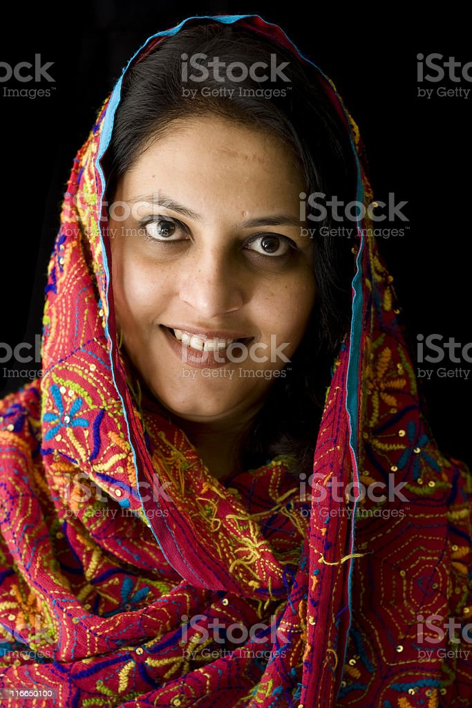 Attractive Woman of Asian and Indian Ethnicities stock photo