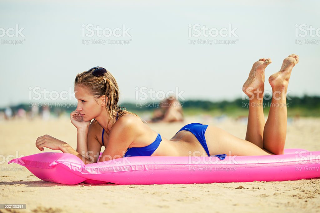 Attractive Woman On Beach royalty-free stock photo