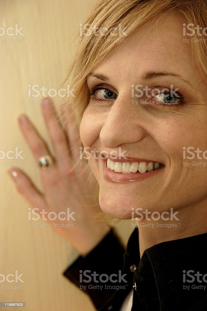 attractive woman portrait - middle aged royalty-free stock photo