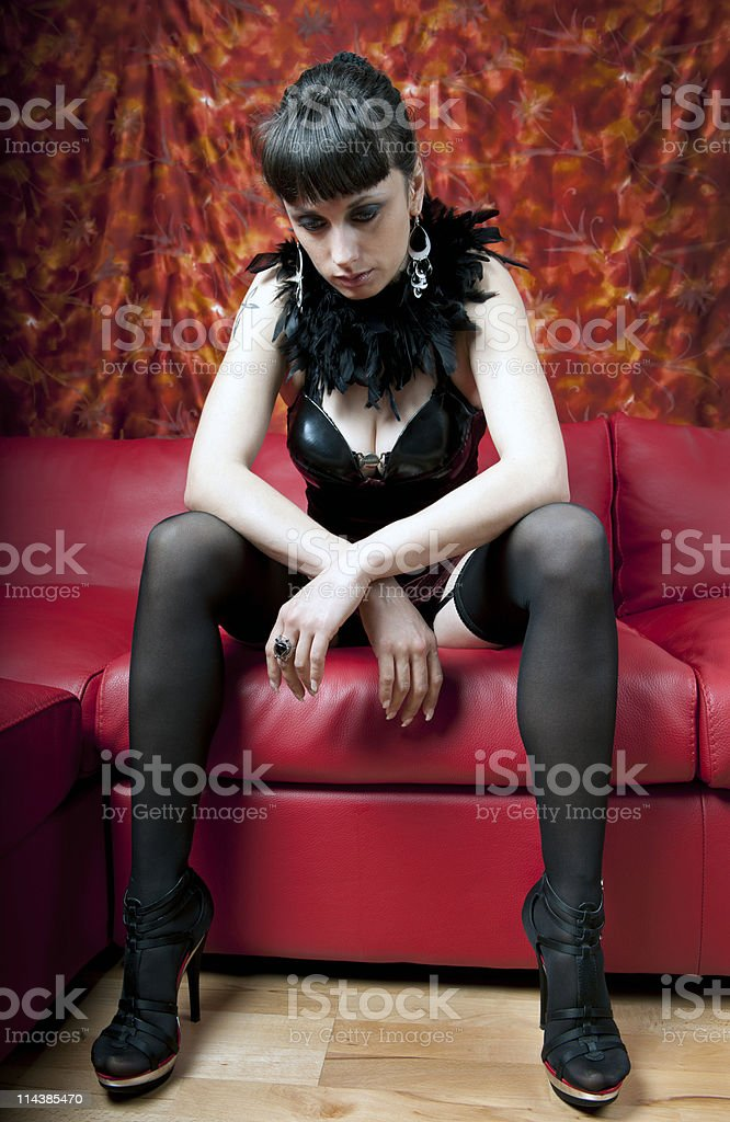 Attractive Woman Resting in Nihgtclub royalty-free stock photo