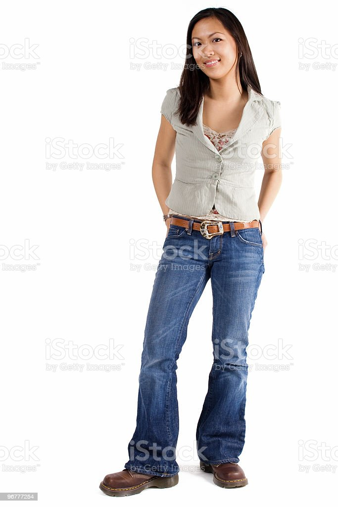 Attractive Woman Standing royalty-free stock photo
