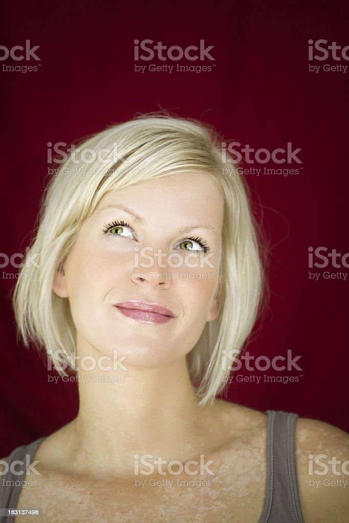 Attractive woman with interesting pigment composition royalty-free stock photo