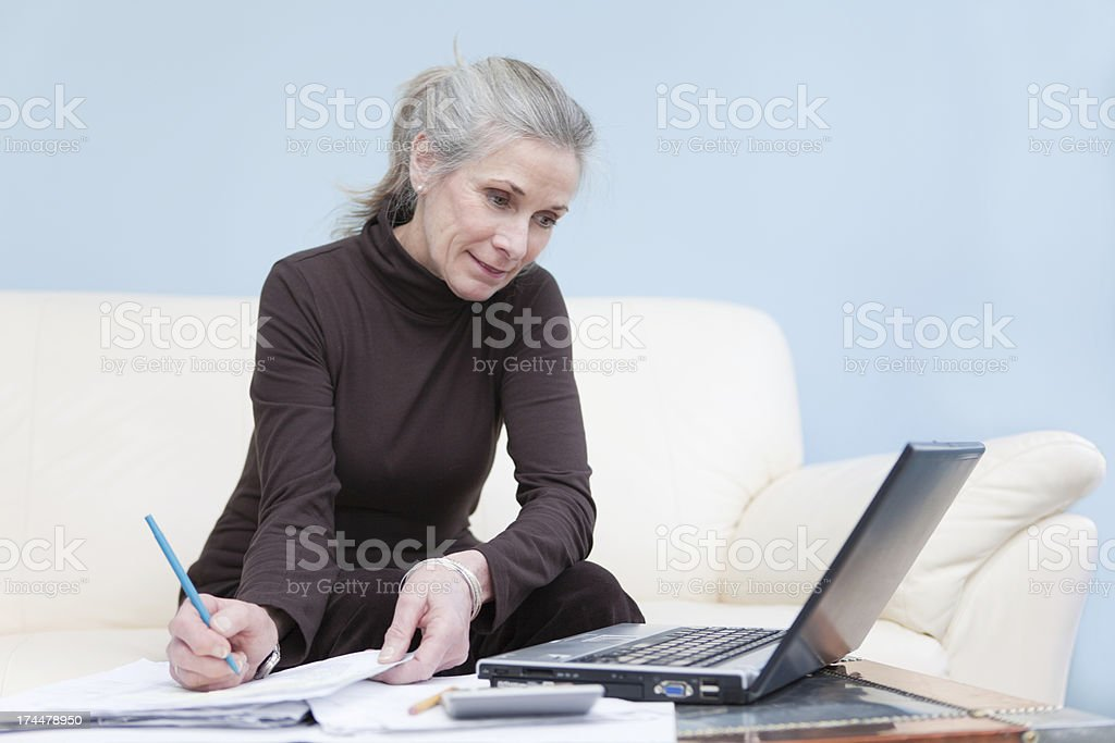 Attractive Woman Working From Home royalty-free stock photo