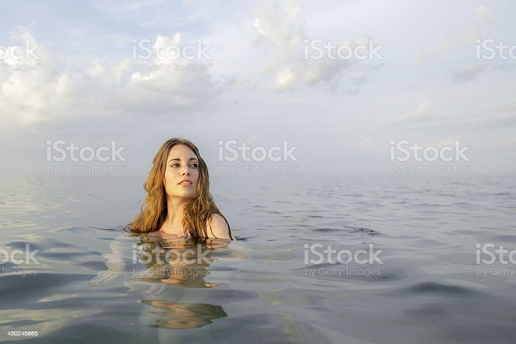 Attractive Women in Water royalty-free stock photo