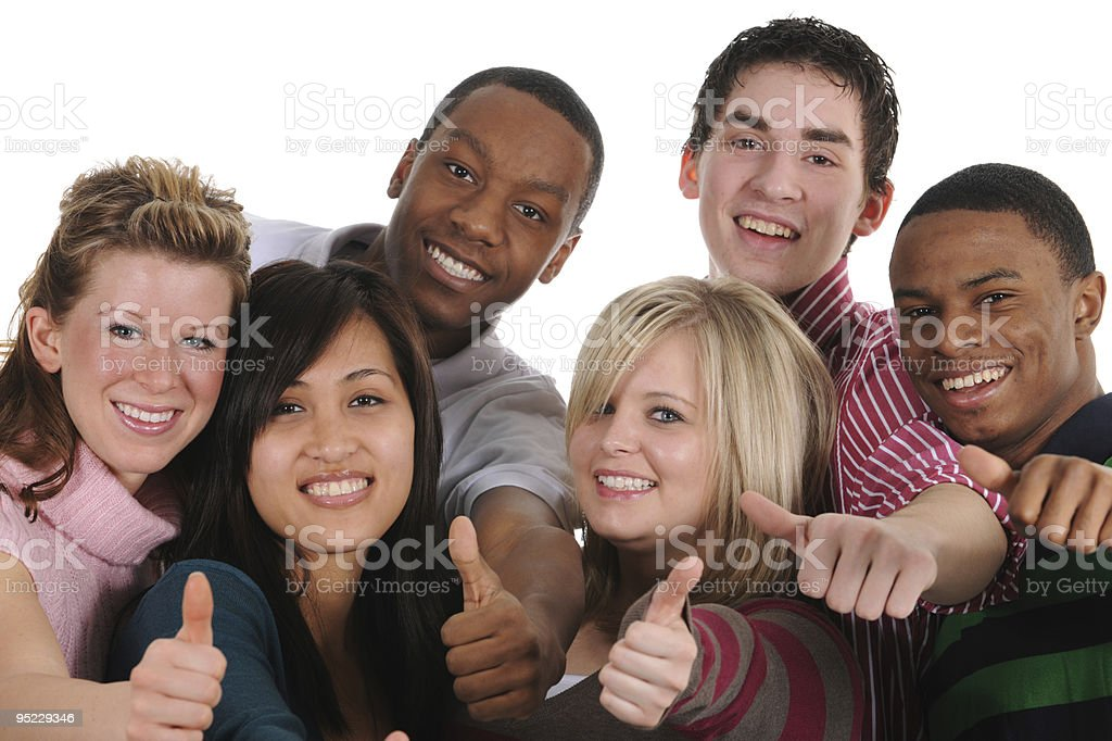 Attractive Young Adults royalty-free stock photo
