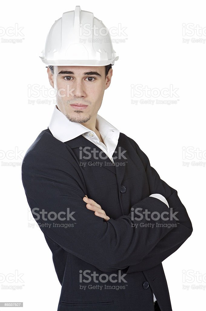 attractive young architect royalty-free stock photo