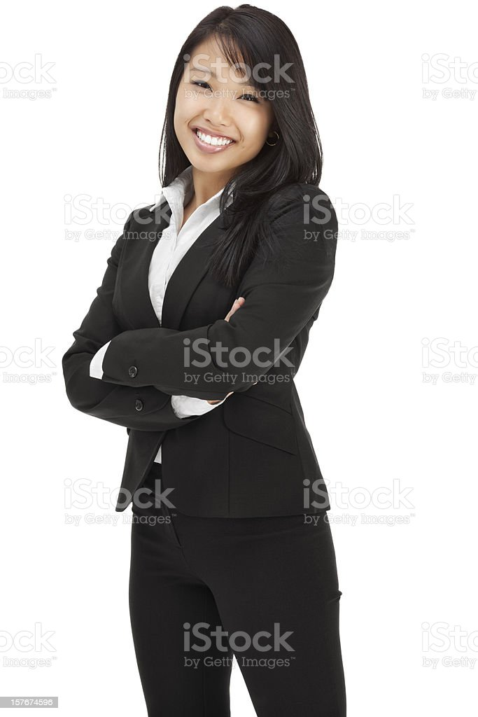 Attractive Young Asian Businesswoman royalty-free stock photo