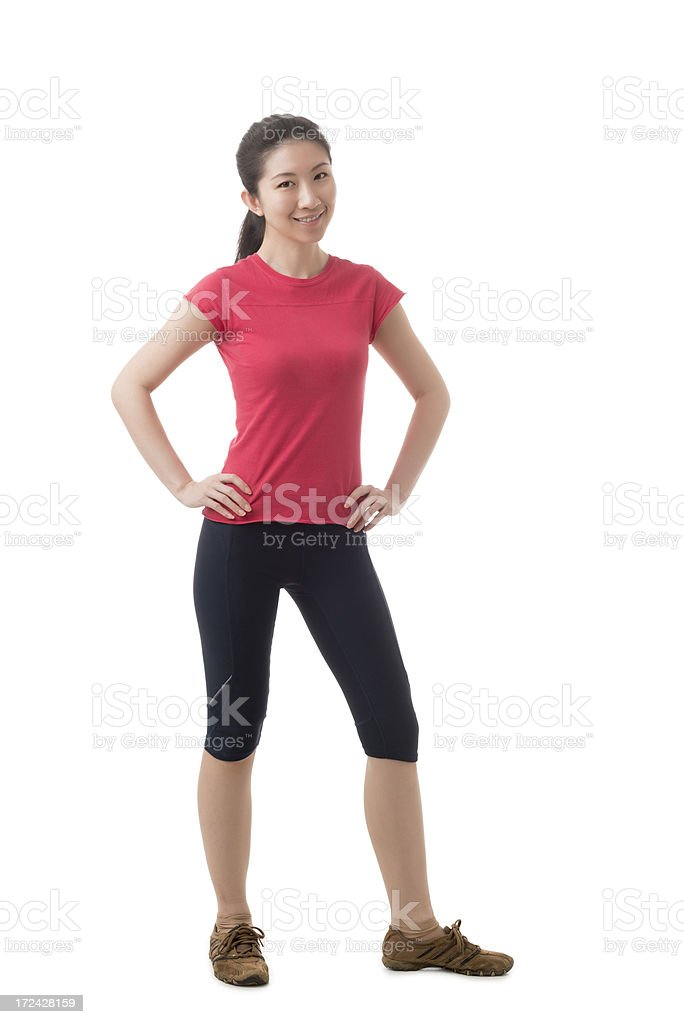 Attractive young Asian Chinese woman royalty-free stock photo