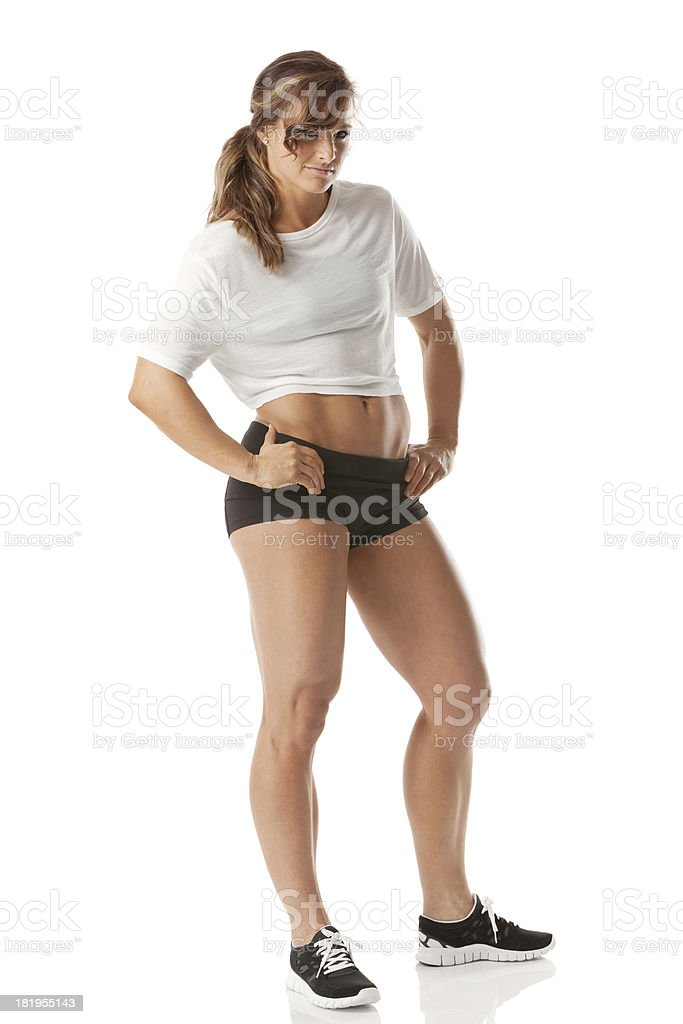 Attractive young beautiful woman posing royalty-free stock photo