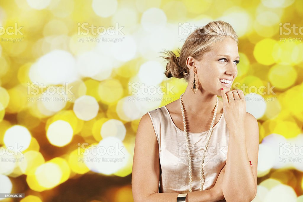 Attractive young beautiful woman smiling royalty-free stock photo