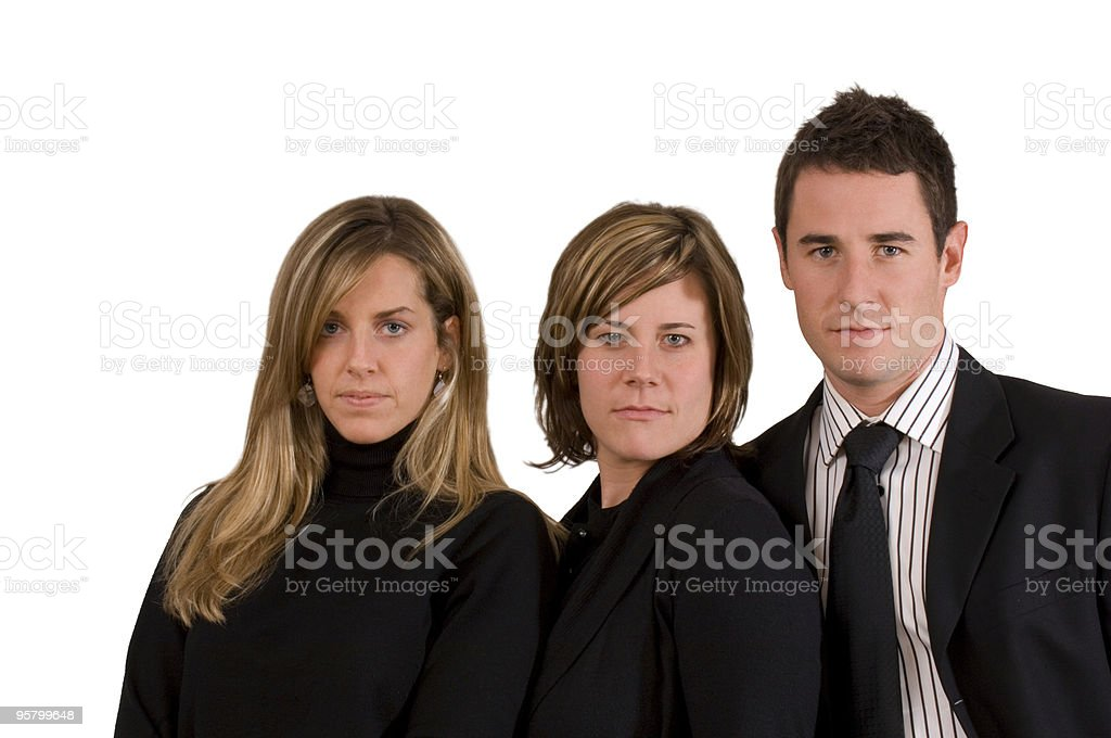 Attractive Young Business Trio royalty-free stock photo