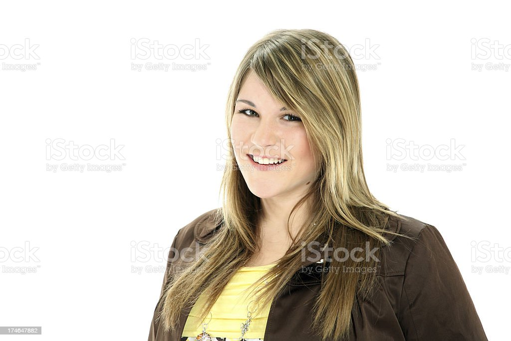 attractive young business woman royalty-free stock photo