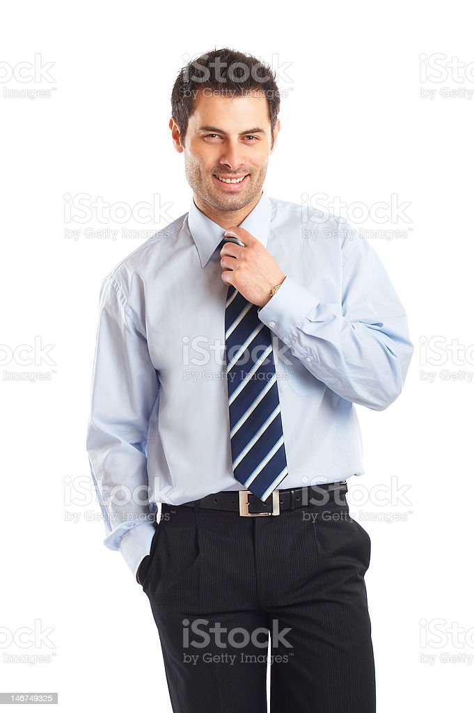 Attractive Young Businessman royalty-free stock photo