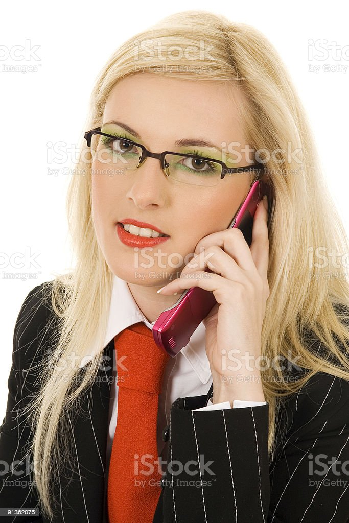 attractive young business-woman calling by cellular phone royalty-free stock photo