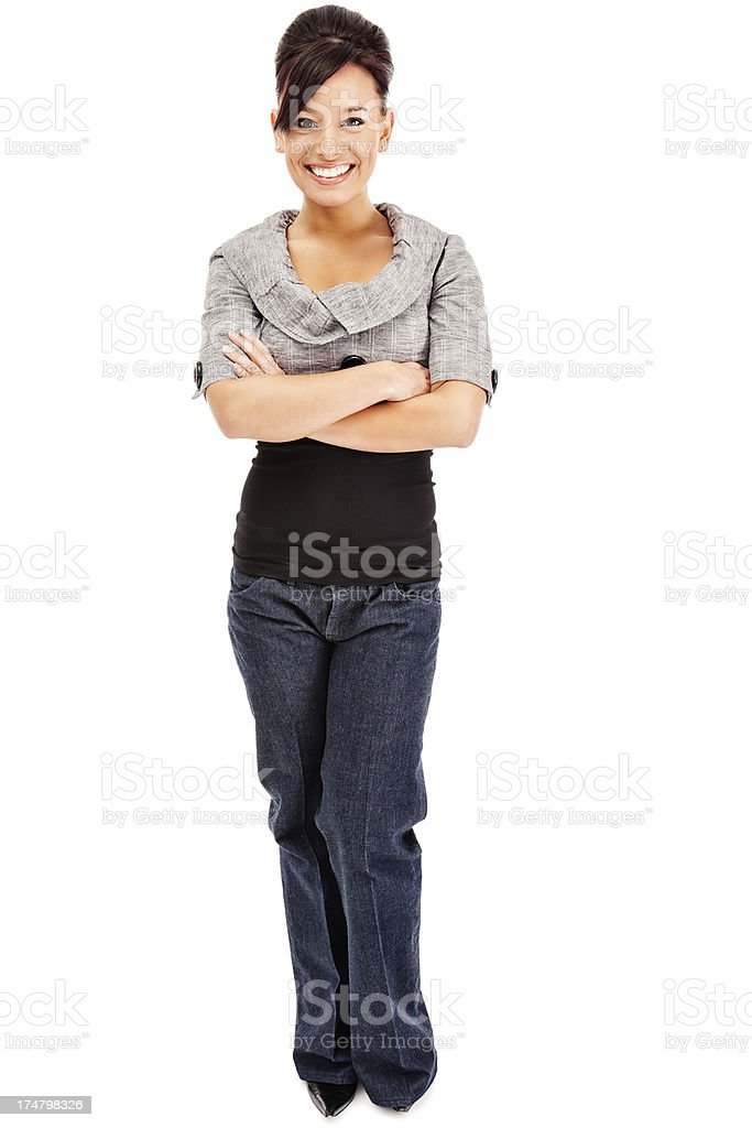 Attractive Young Businesswoman in Business Casual Attire royalty-free stock photo