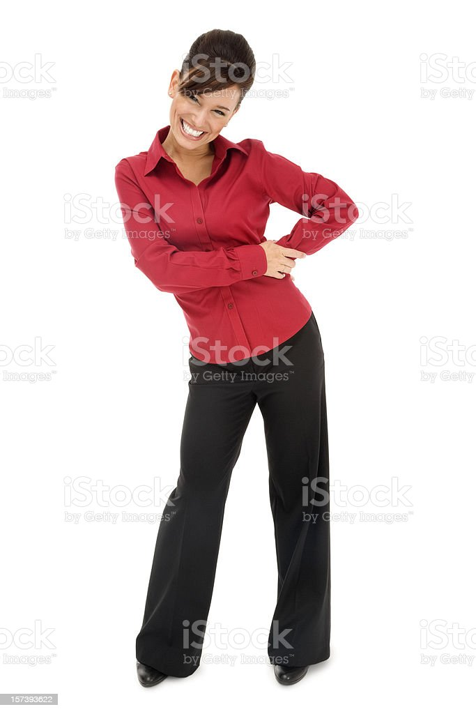 Attractive Young Businesswoman in Red royalty-free stock photo