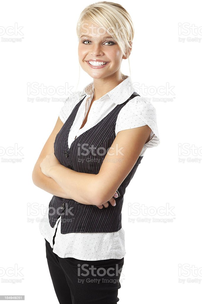 Attractive Young Businesswoman with a Bright Smile royalty-free stock photo