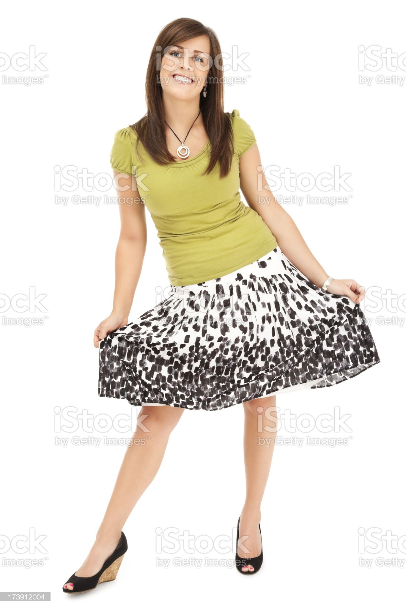 Attractive Young Casual Woman royalty-free stock photo