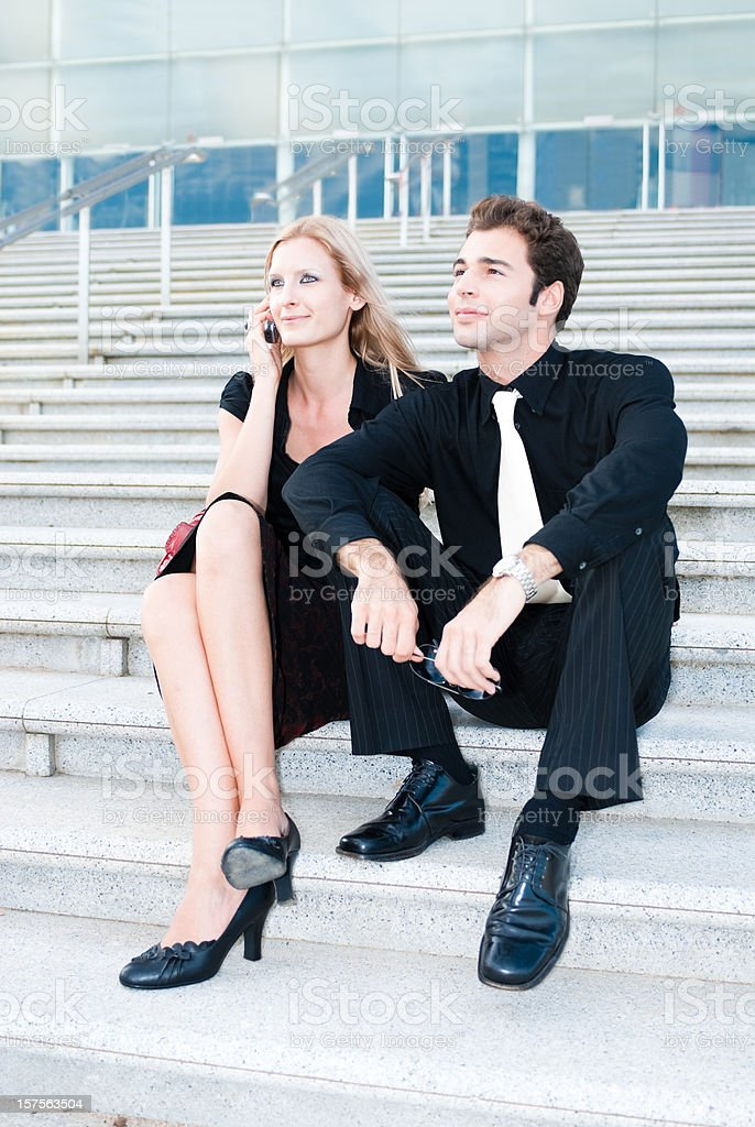 Attractive Young Couple Going Out royalty-free stock photo