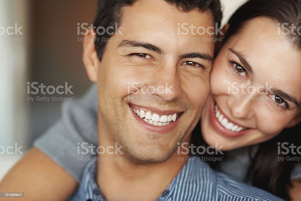 Attractive young couple stock photo