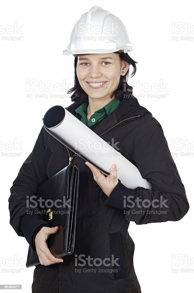 Attractive young engineer royalty-free stock photo
