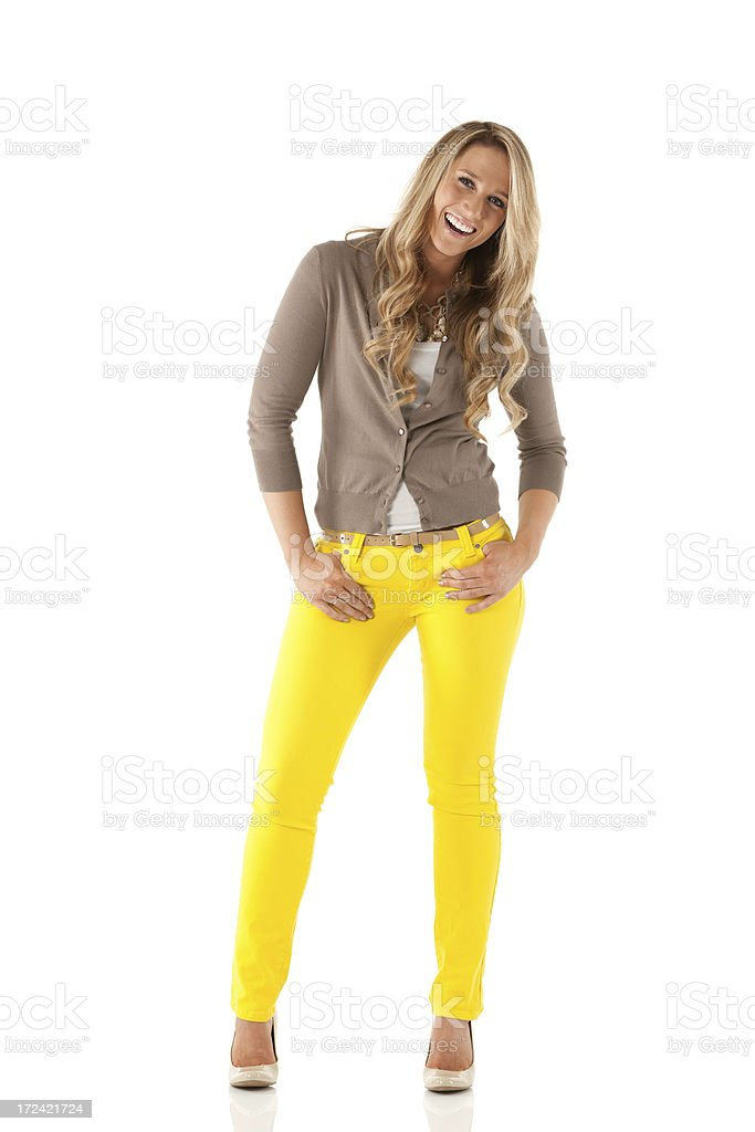 Attractive young female posing royalty-free stock photo